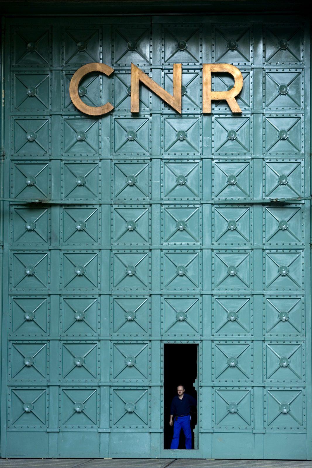 Porte de la centrale Léon Perrier